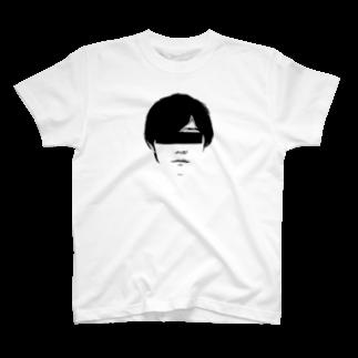 ARuFaの公式グッズ屋さんのARuFaマジ顔面(モノクロ) T-shirts