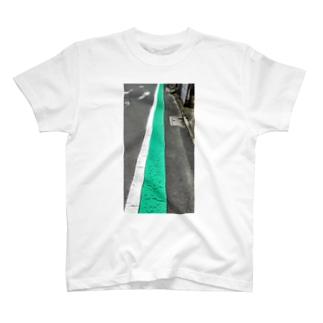 歩行者用グリーンベルト T-shirts