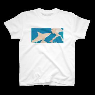 イラストレーター さかたようこの彼女はサメが好き eye Trimming T-shirts