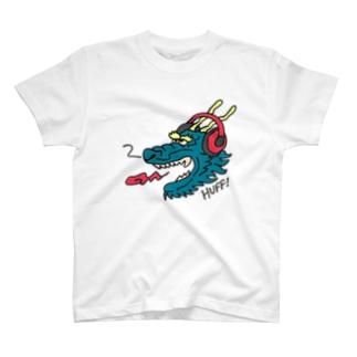 ヘッドホン・ドラゴン T-shirts