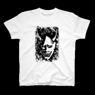 studio Kaze no Shirabeの能面・般若 T-shirts