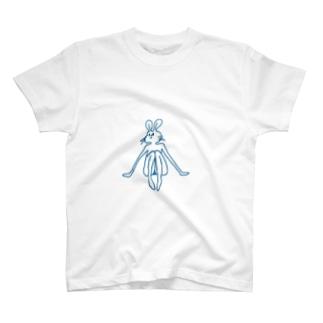 頭の悪い兎のいとこ T-shirts