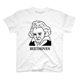 ベートーベン BEETHOVEN イラスト 音楽家 偉人アート ストリートファッション T-shirts