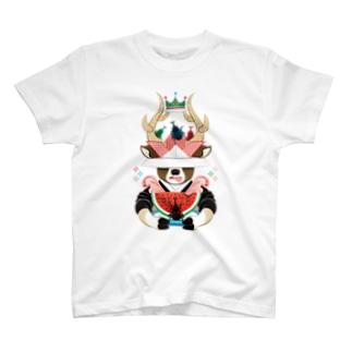 カブトムシと西瓜(リメイク) T-shirts