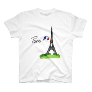 パリ・エッフェル塔(両面プリント) T-shirts