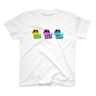 three hariko inu T-shirts