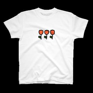 ね むのオレンジチューリップ T-shirts