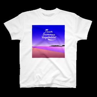 エビフライ屋さんの夏野菜 イラスト大 T-shirts
