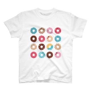 ドーナツいっぱい【No.1】 T-shirts