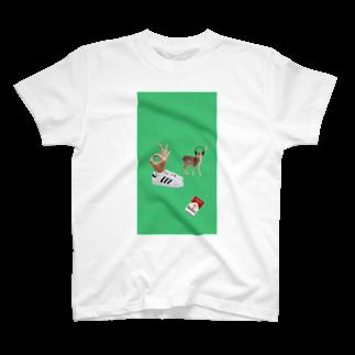ナカザワのdeer T-shirts