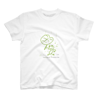 uwotomoの 【Even in the rain , the feeling is fine】 T-shirts