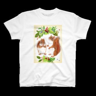rokoのアメリカアカリス T-shirts