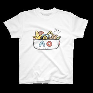 ゆゆ丸のあお◎ T-shirts