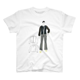 レトロ孔雀ブラウス T-shirts