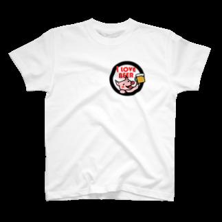 mikepunchのI LOVE BEER T-shirts