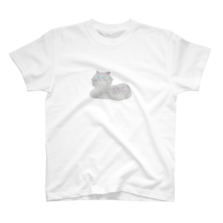 atta_aru_roomのふわふわキャット T-shirts
