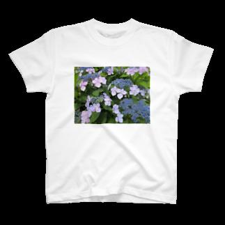 Dreamscapeのハイドランジア模様 T-shirts