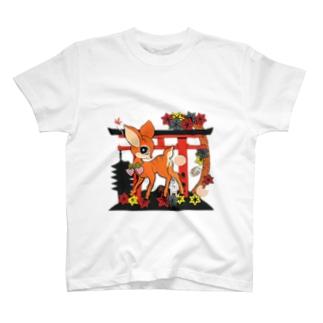 鹿神様 T-shirts