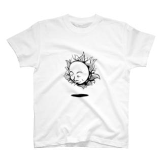 太陽さん(モノクロ) T-shirts