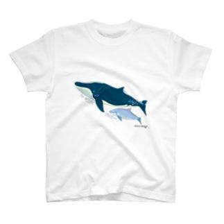 ナガスクジラとミナミハンドウイルカ  T-shirts