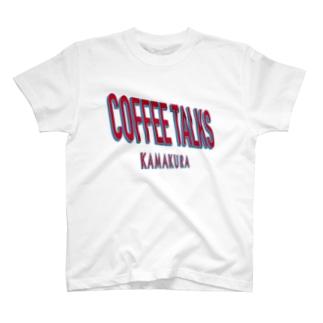 COFFEE TALKS KAMAKURA TEE コーヒートークスカマクラ マルチロゴ カフェ CAFE 白T おすすめ ビッグシルエット サイズ T-shirts