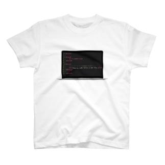ソースコードは嘘をつかない T-shirts