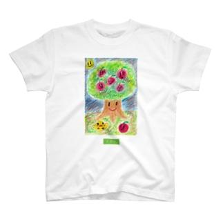 まゆん:りんごの木 T-shirts