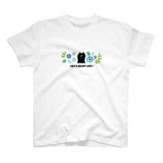 CAT(ブルー) T-shirts