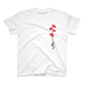 憂いに手向けるポピー T-shirts