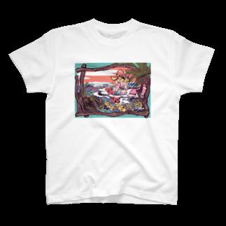 lllのなみぎわのシャツ T-shirts