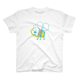 らくがき帳に描いたはち T-shirts