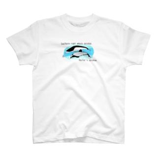 シロハラセミイルカ&セッパリイルカ T-shirts