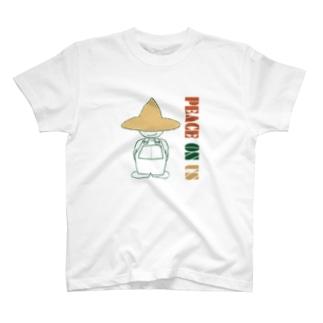 PEACE ON US 地球版 T-shirts