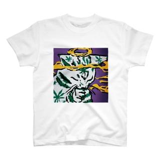 きめねこ(大麻をキメている猫) T-shirts