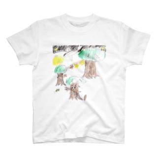 夏の夜の森 T-shirts