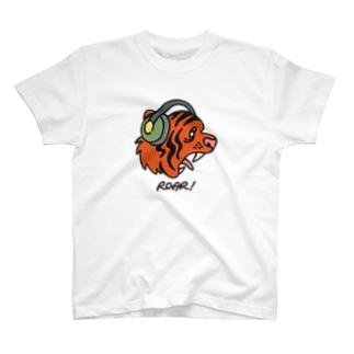 ヘッドホン・タイガー T-shirts