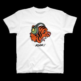 SAN NOのヘッドホン・タイガー T-shirts