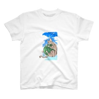 なごの殿と夏/猫 T-shirts