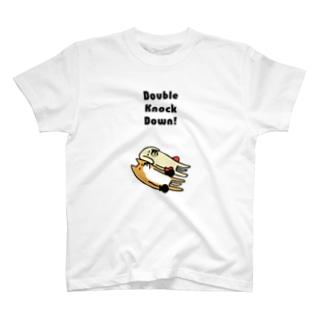 ボクシング ダブルノックダウン T-shirts
