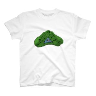 パッチリオメメ T-shirts