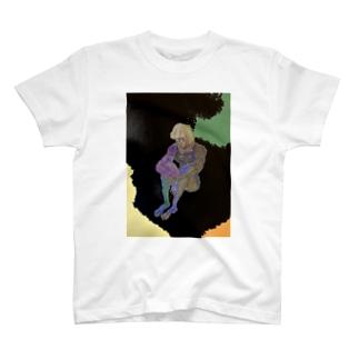 (肉)すく水(肉)の肖像 T-shirts