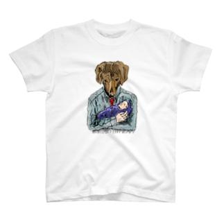犬パパ T-shirts