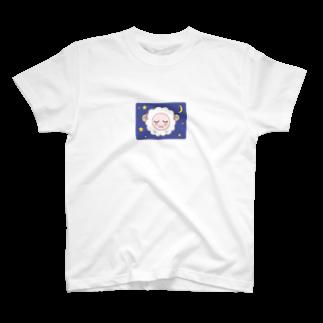 陽崎杜萌子@LINEスタンプ販売中の乙女ひつじ【good night】 T-shirts