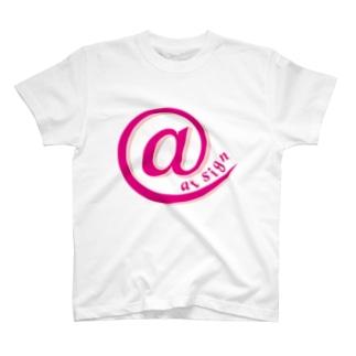 at sign pink T-shirts