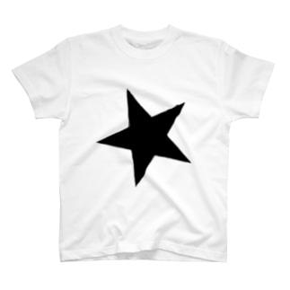 手書きの星型アート T-shirts