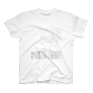 ダイコン 正方形 T-shirts