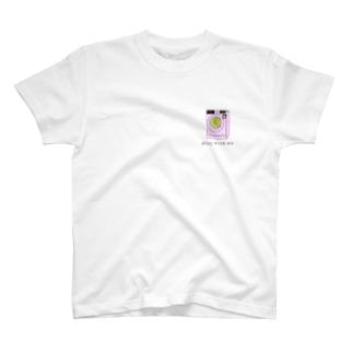 可愛い洗濯機のゲームが胸にある T-shirts