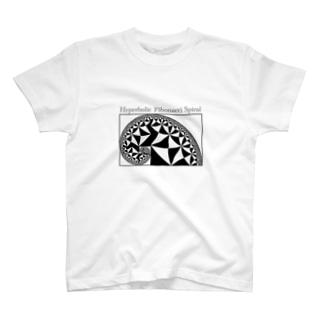 双曲フィボナッチ螺旋 T-shirts