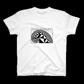 ζWalkerの双曲フィボナッチ螺旋 T-shirts