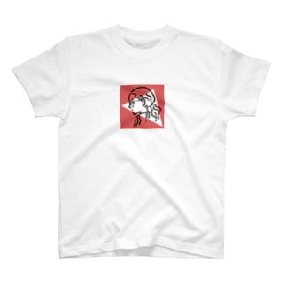 サンカクラウンドガール(redpink) T-shirts